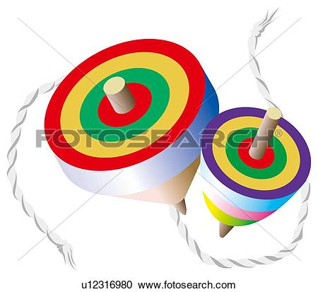 Stock Illustrations of Spinning Tops u12316980.