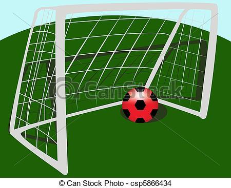EPS Vektor von Fußball, Tor.