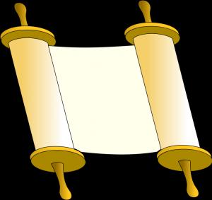 Free Jewish Clipart: Torah.
