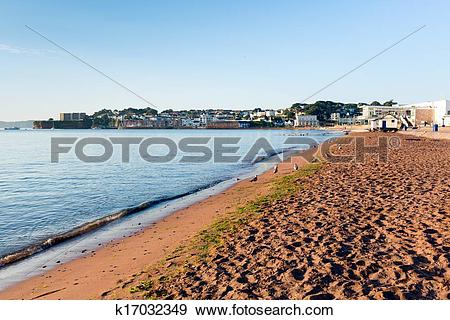 Stock Photograph of Paignton beach Torbay Devon England k17032349.