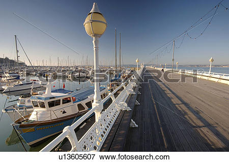 Picture of England, Devon, Torbay, The Victorian pier on Torquay.