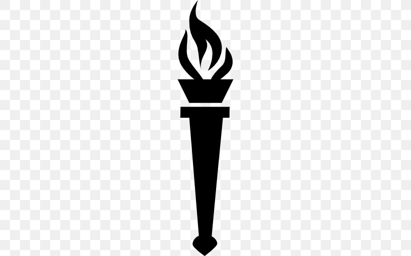 Torch Flame Clip Art, PNG, 512x512px, Torch, Black And White.