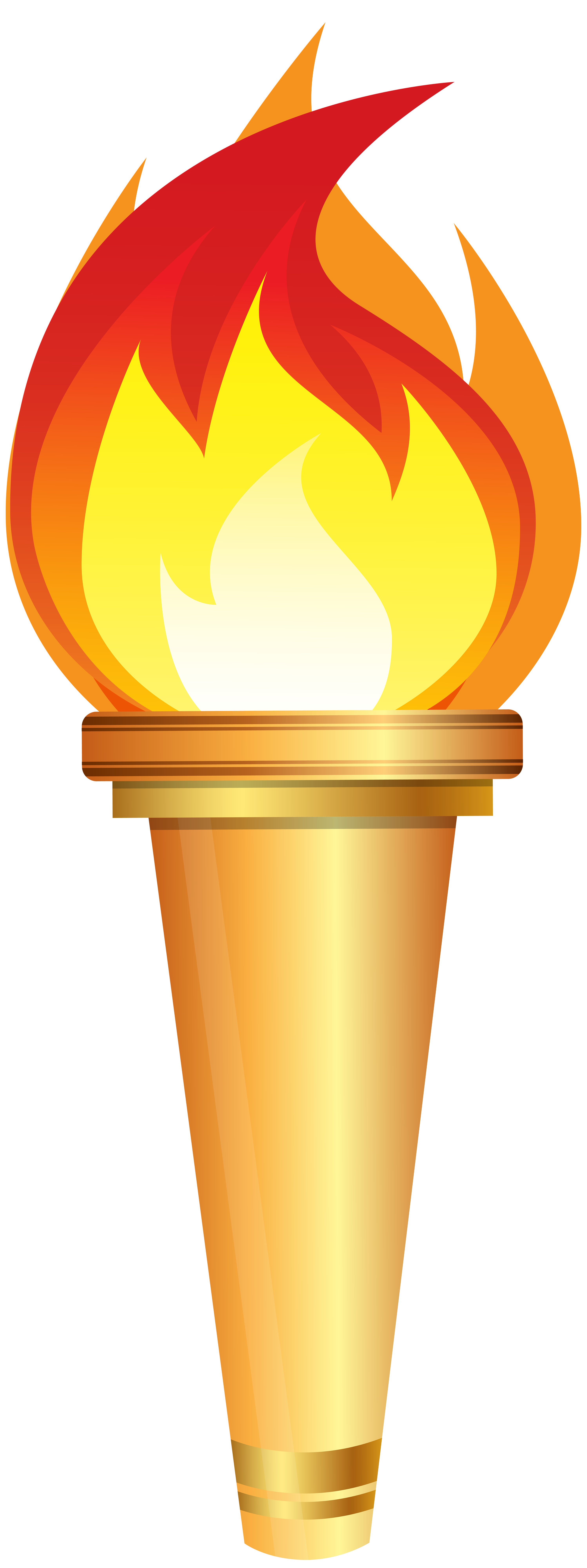 Olympic torch clipart.