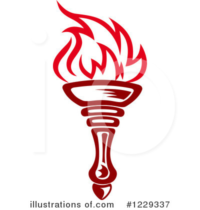 Olympic Torch Clipart Black And White.