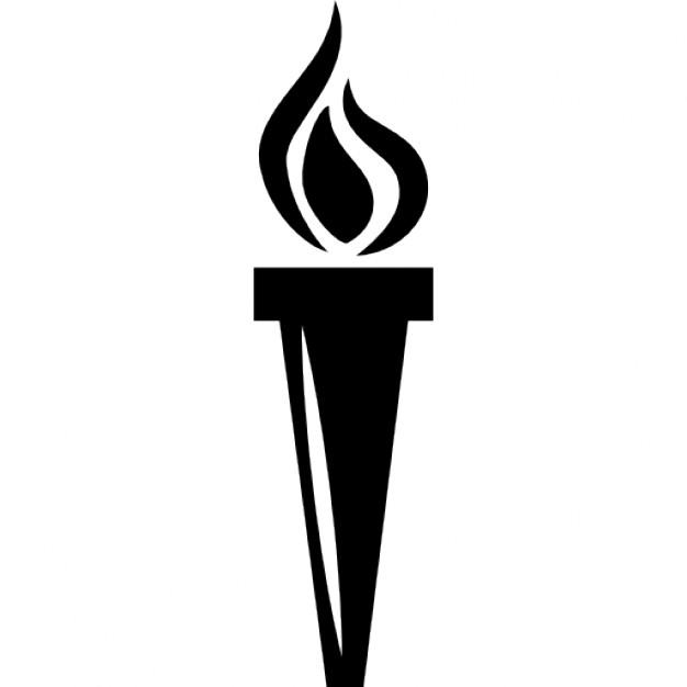 Similiar Black And White Flaming Torch Keywords.