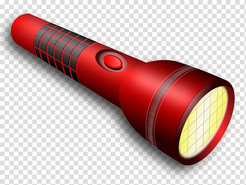 Red and black flashlight illustration, Flashlight Torch.