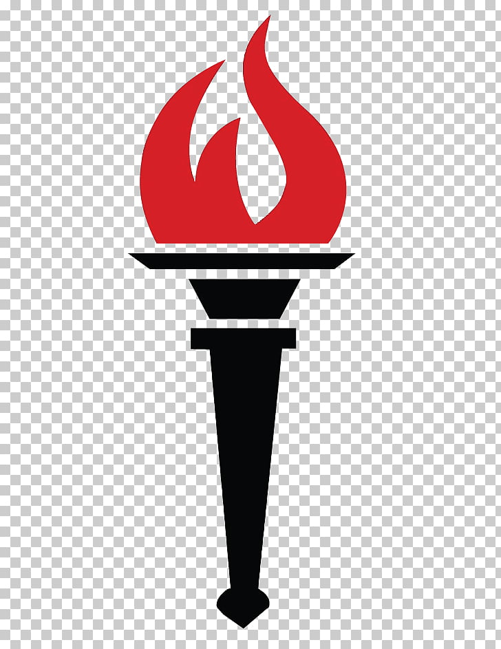 Torch Flame Fire , Torch, black torch with red flame.