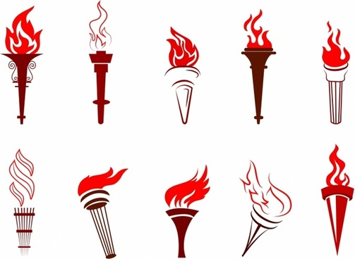 Fire torch free vector download (908 Free vector) for.