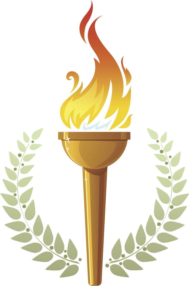 Education Torches Clipart.