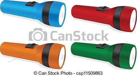 Clip Art Vector of torch.
