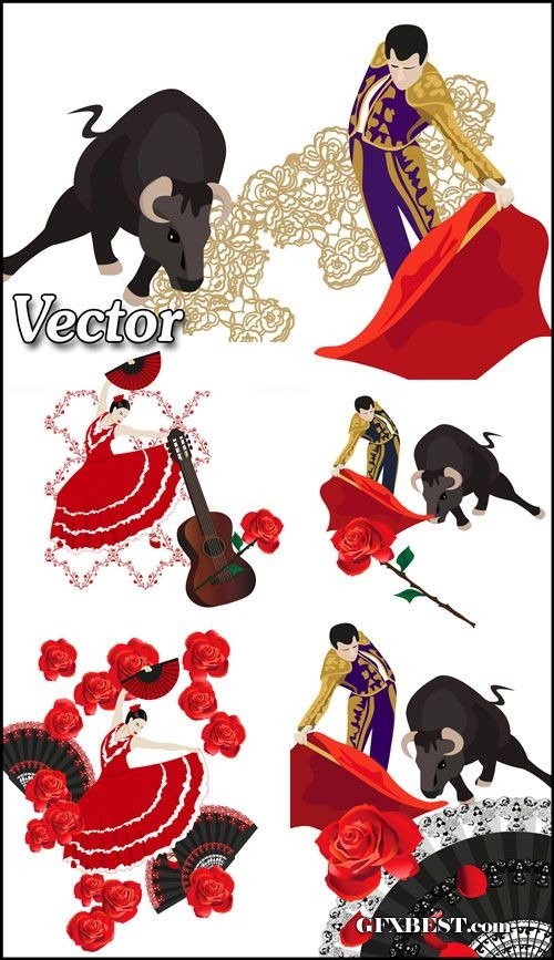Spanish Dancing Clipart.