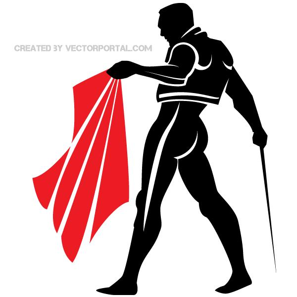 Matador Vector Clip Art Image.