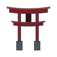 Torii gate Vector Image.
