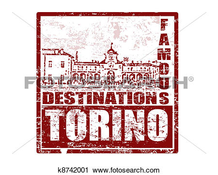 Clipart of Torino stamp k8742001.