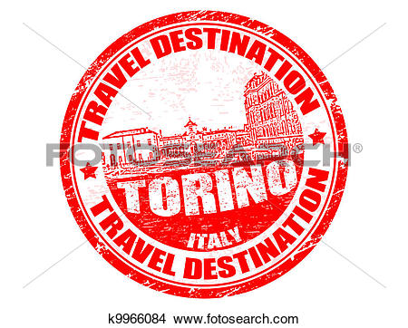 Clipart of Torino stamp k9966084.