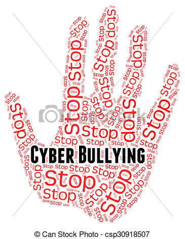 Stock Illustration of Stop Cyber Bullying Means World Wide Web And.