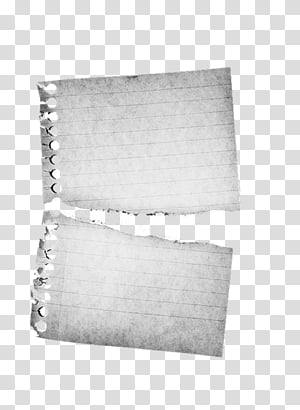 Papers, torn black lined paper transparent background PNG.