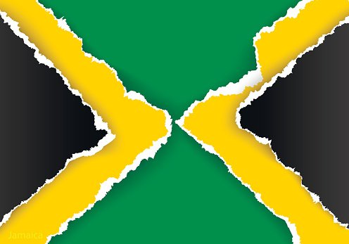 Design Flag Jamaica from Torn Papers With Shadows premium.