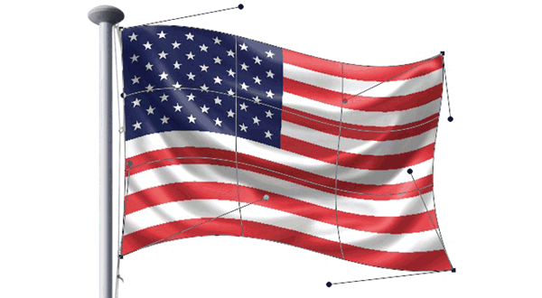 How to Make a Rippling Flag in Photoshop.