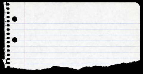 Torn Notebook Paper 37309.