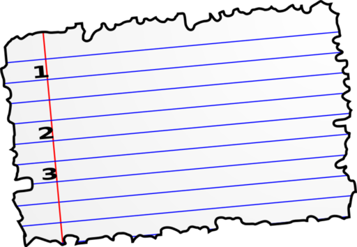 Notebook Paper Clipart Free.