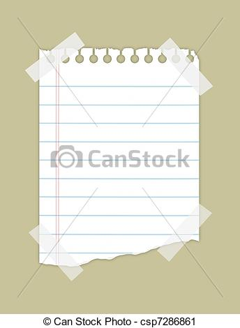 Clipart of Notebook page with sellotape.
