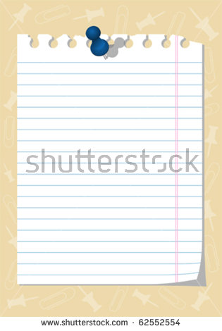 Torn Notebook Paper Stock Images, Royalty.