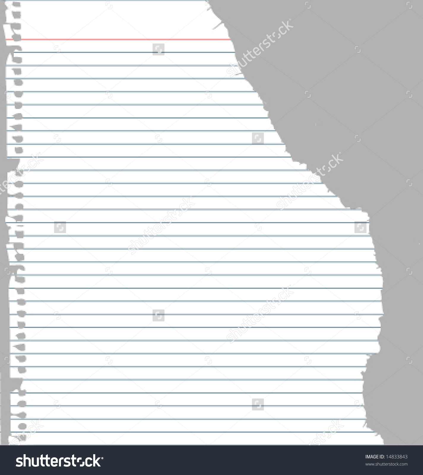 Ripped Notebook Paper Stock Vector Illustration 14833843.