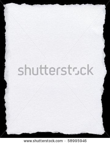 Torn paper clipart border.