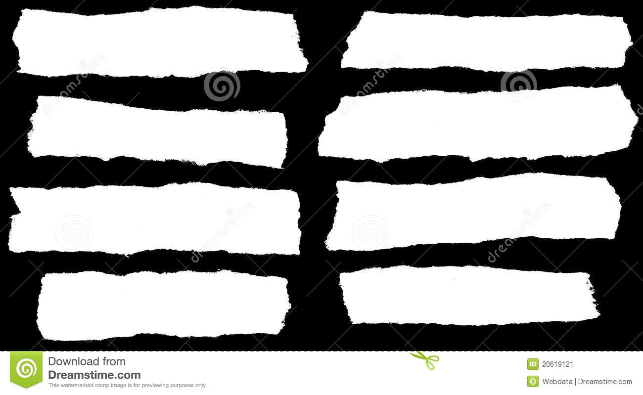 Ripped Paper Clip Art Stock Image.