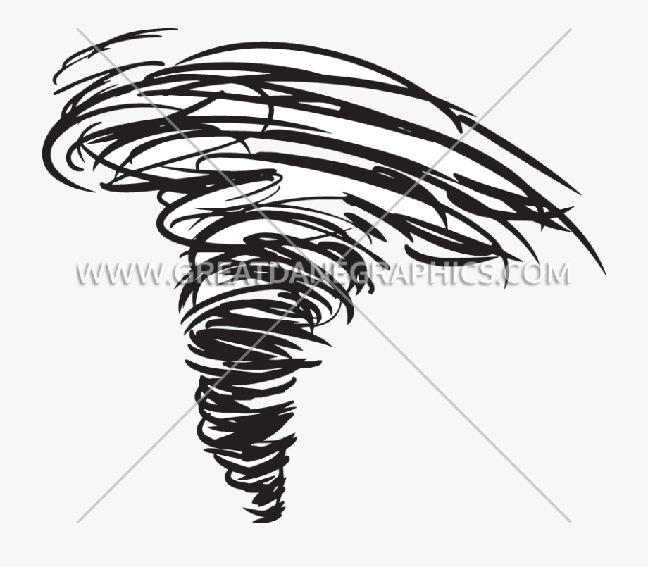 Banner Black And White Library Tornado Clipart Natural.