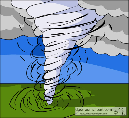 Driving in tornado clipart.