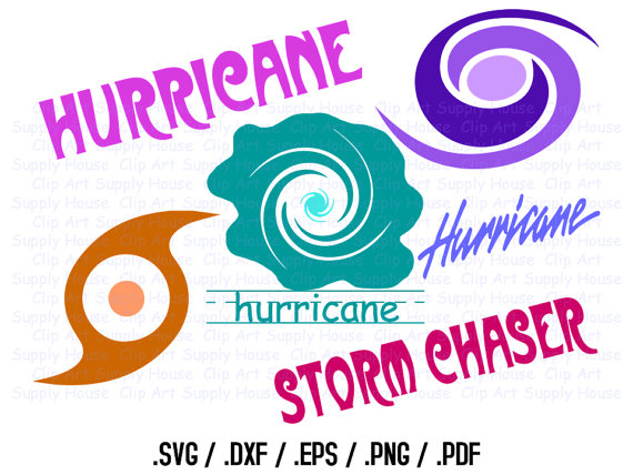 Hurricane Clipart Design Files Use With Silhouette Software.