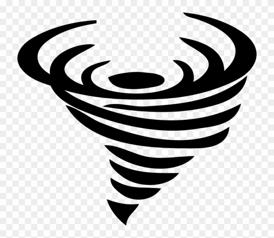 Funnel Cloud Clipart Tornado Black Storm Free Vector.
