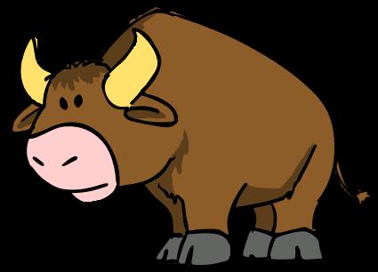 Cute Bull Clipart.