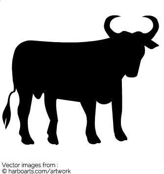 Download : Bull Silhouette.