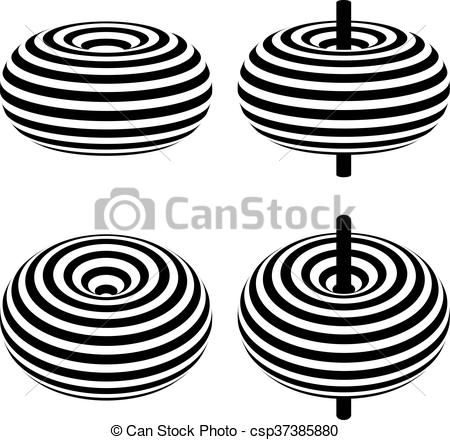 Vector of magnetic field toroid black symbol.