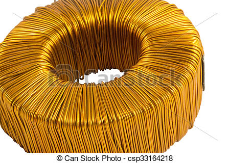 Stock Photography of toroidal transformer.