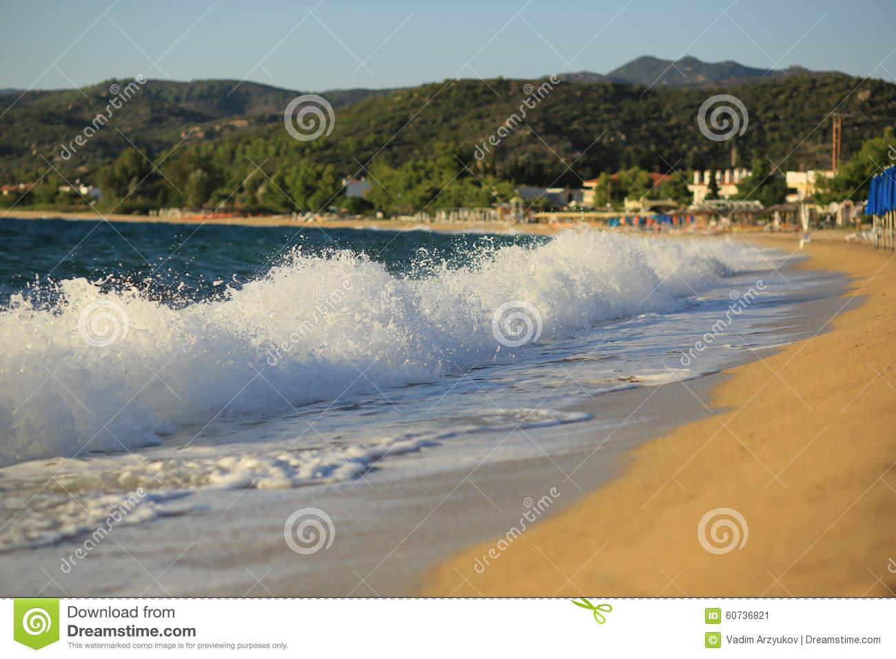 Toroni Greece Stock Photo.