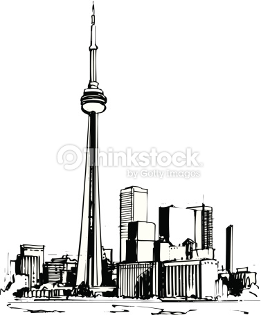 Toronto Cn Tower Vector Cartoon Clipart Vector Art.