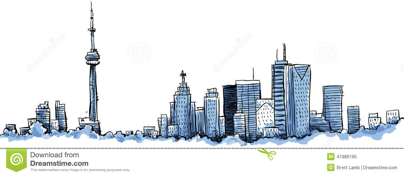 Toronto Buildings Stock Illustrations.