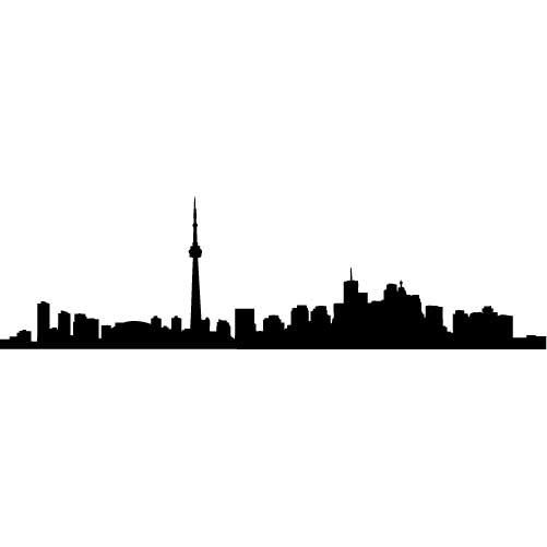 Toronto Skyline Silhouette MEDIUM Vinyl Wall Decal by.