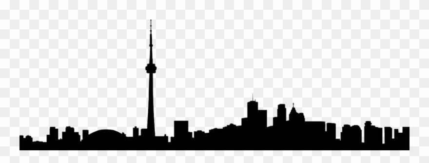 Toronto Skyline Silhouette Clipart (#2973067).