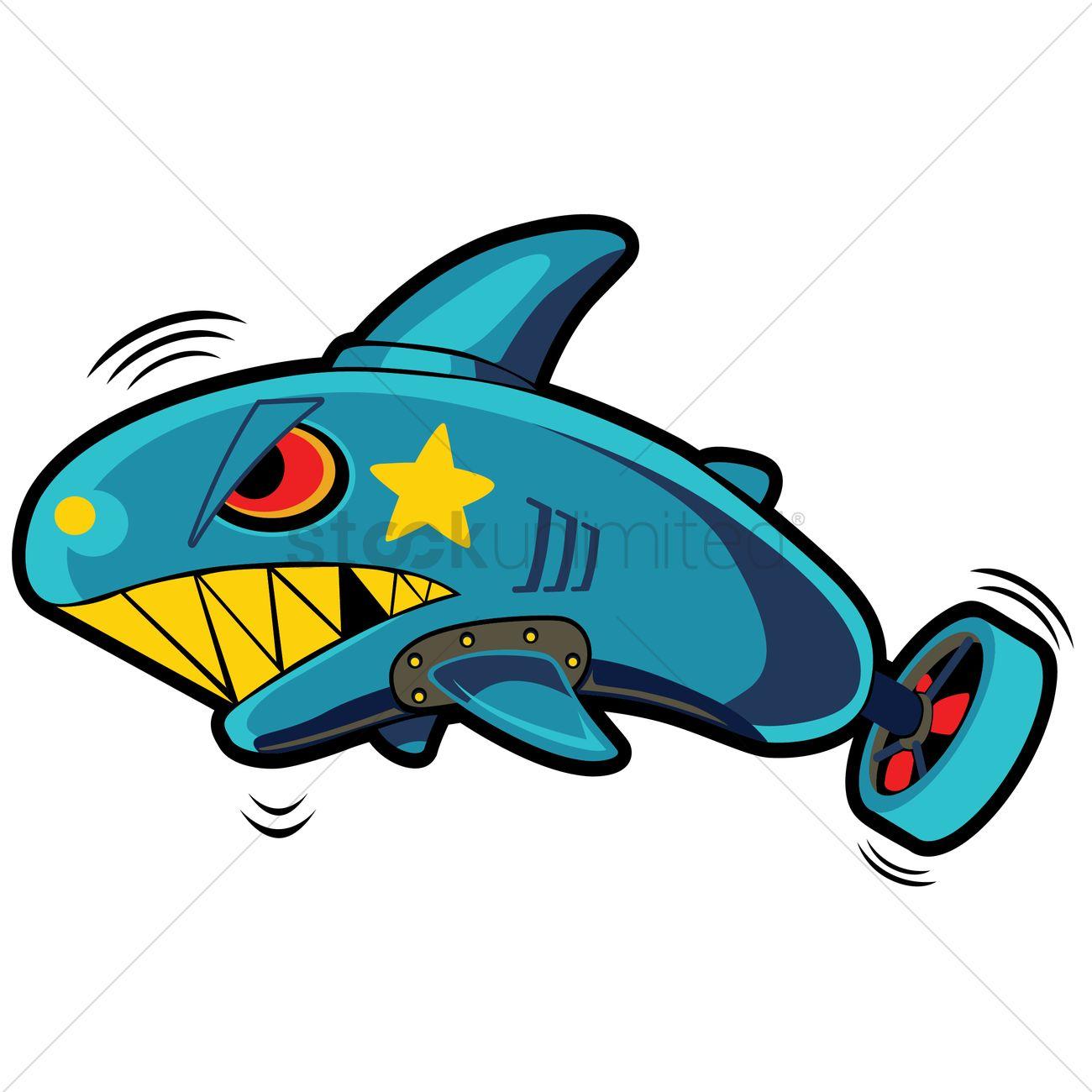 Shark torpedo Vector Image.