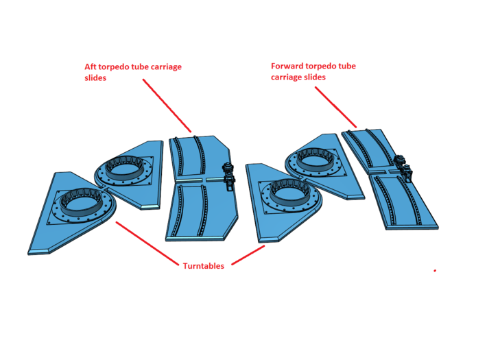 1/32 Torpedo Tube Turntables and Slides (6C2Q4RCS7) by Model_Monkey.