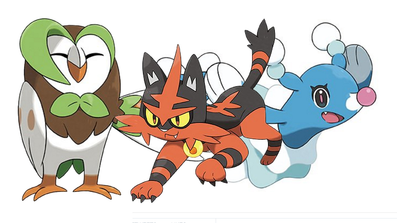 Here's What The Evolutions Of Pokemon Sun And Moon's Starters Look.