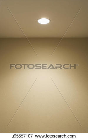 Picture of Detail ceiling with recessed light; Torrance.