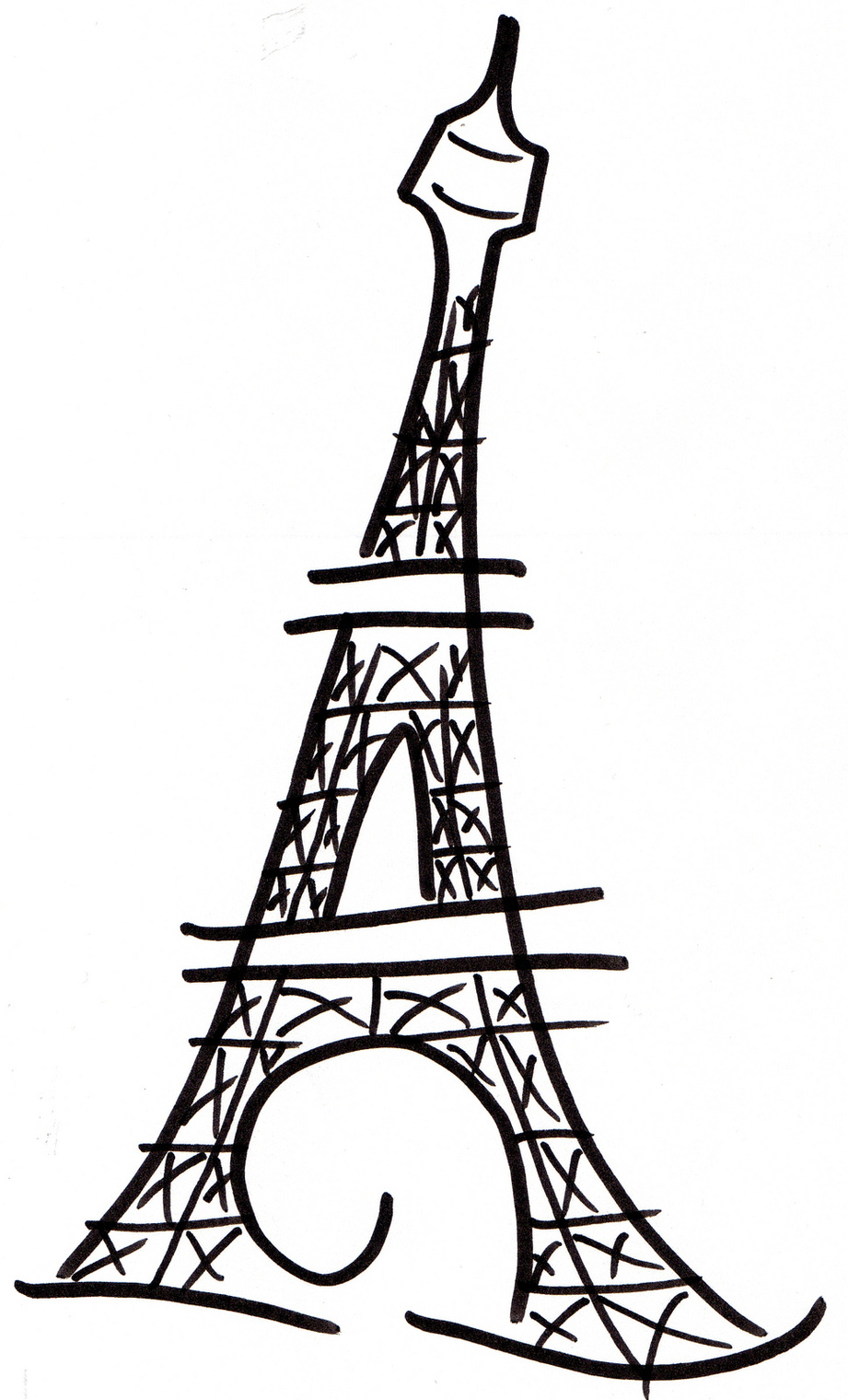 Torre Eiffel Clipart In Black Clipart.