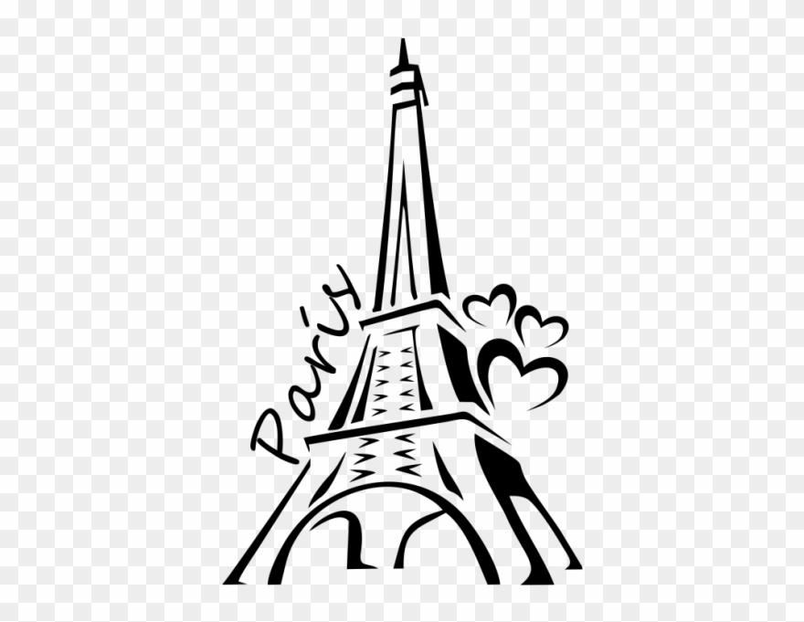 Silueta De Torre Eiffel.