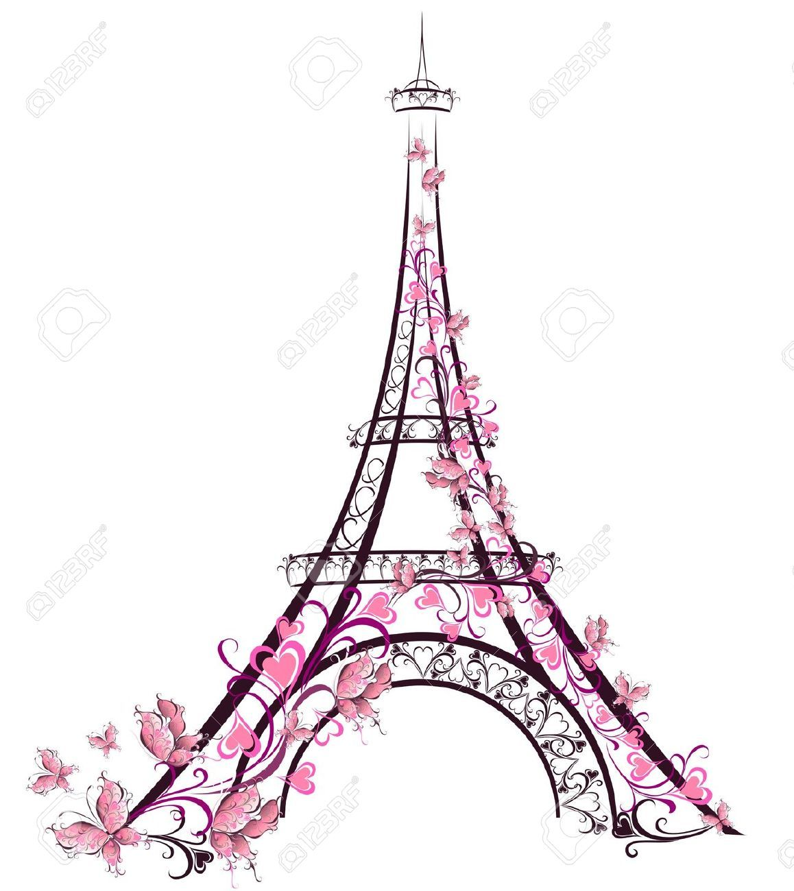 10,139 Eiffel Tower Stock Vector Illustration And Royalty.